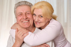 Elderly couple smiling together Royalty Free Stock Photos