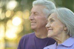 Elderly couple smilling Stock Image