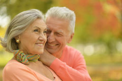 Elderly couple smilling together Royalty Free Stock Photo
