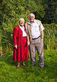 Elderly couple standing hand Royalty Free Stock Images