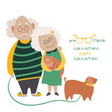 Elderly Couple With Their Dog Royalty Free Stock Photography