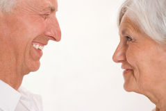 Elderly couple together Royalty Free Stock Image