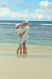 Elderly couple  at tropical beach Stock Photography