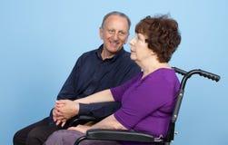 Elderly couple waiting Royalty Free Stock Photo