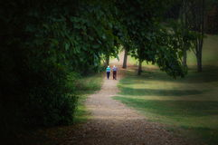 Elderly Couple Walking royalty free stock images