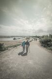 Elderly Couple Walking Together Royalty Free Stock Photography
