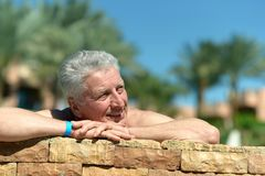 Elderly cute man Stock Photography