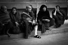 Elderly Devotees of Mahabodhi Temple, Bodh Gaya, India Royalty Free Stock Photos