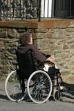 Elderly Difficulties Royalty Free Stock Photography