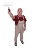 Elderly DIY enthusiast Royalty Free Stock Image