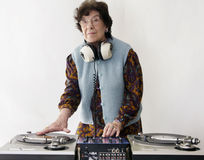 Elderly dj Royalty Free Stock Photos