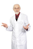 The elderly doctor with a smile Stock Image