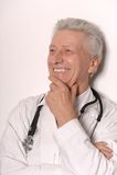 Elderly doctor Stock Photography