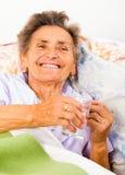 Elderly Drinking Water stock photos
