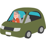 Elderly driver. A vector illustration of the elderly driver Royalty Free Stock Image