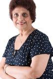 Elderly East Indian Lady stock photo
