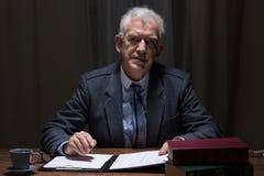 Elderly elegant man royalty free stock photo