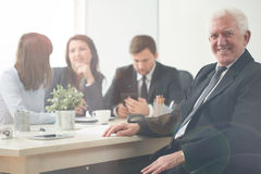 Elderly entrepreneur Royalty Free Stock Photography