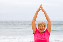 Elderly exercise Stock Photos