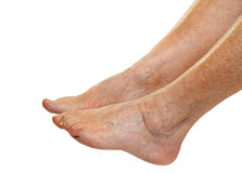 Elderly feet Royalty Free Stock Photo