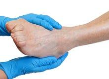 Elderly feet Stock Image