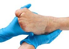 Elderly feet Royalty Free Stock Images