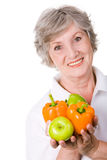 Elderly female Stock Image
