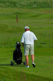 Elderly golfer Royalty Free Stock Images