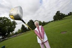Elderly Golfer Royalty Free Stock Photography