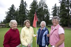 Elderly Golfers Royalty Free Stock Photo
