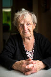 An elderly gray-haired woman pensioner. Royalty Free Stock Photo