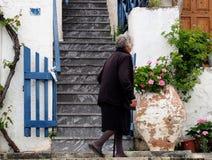 Elderly Greek Lady In Kritsa, Crete Royalty Free Stock Photography