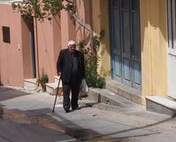 Elderly Greek Man In Kritsa, Crete Greece Stock Image