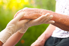 Elderly hand Royalty Free Stock Photos