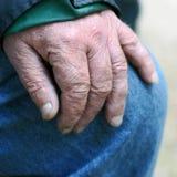 Elderly hand Stock Photos