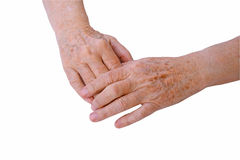 Elderly hands Royalty Free Stock Photo