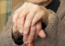 Elderly hands Stock Photos
