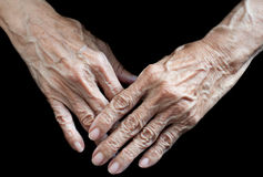 Elderly hands Royalty Free Stock Photography