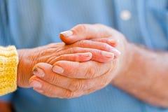 Elderly hands Royalty Free Stock Photos