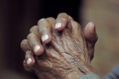 Elderly hands Stock Image