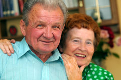 Elderly happy couple Stock Photo