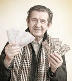 Elderly happy man Royalty Free Stock Photos
