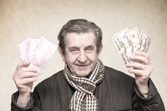 Elderly happy man Royalty Free Stock Photo