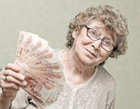 Elderly happy woman Stock Images
