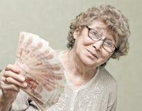 Elderly happy woman Stock Images