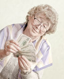 Elderly happy woman royalty free stock image