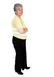 Elderly happy woman - full body Royalty Free Stock Photography