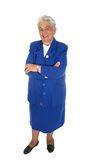 Elderly happy woman  full body isolated Royalty Free Stock Image