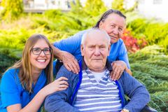 Elderly hard childhood royalty free stock photography