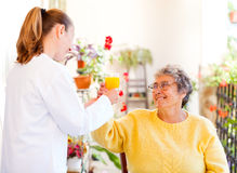 Elderly home care. Find the right home care services for you royalty free stock photos